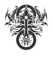 celtic cross tattoo style 2, by Tenrex