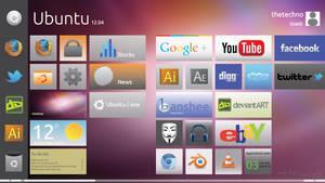 Ubuntu 12.04 Metro Style by Tecior
