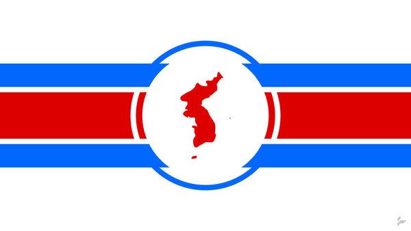 United Korea Flag Concept by Tecior