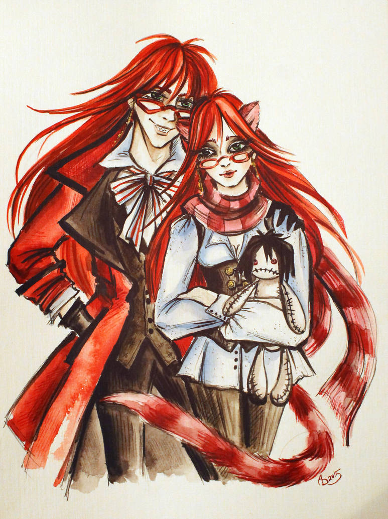 Grell and Lady Grell by AmeliaMadHatter