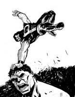 Puck VS Hulk by JasonCopland
