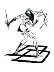 Elektra Pinup by JasonCopland