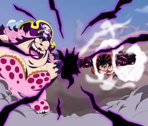 Gear 4 Luffy vs Big Mom [Haki Clash] by MohaSetif