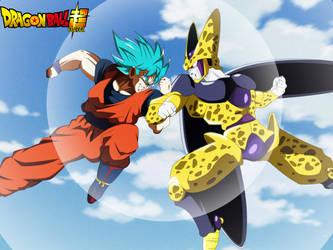 SSJB Goku vs Golden Cell #1 by MohaSetif