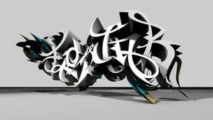 FLOWJOB 3d-graffiti by UrbanCalligraphism