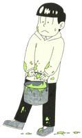 Paint bucket challenge - Choromatsu by ShadowofWolf200