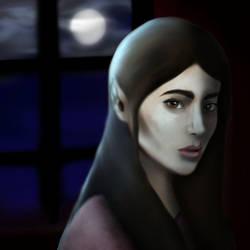 Moonlight Girl by snowstormspawn
