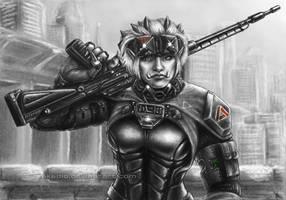 Eiger - Shadowrun: Dragonfall FanArt by Akadio