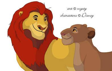 Mufasa and Sarabi, WIP by Mysty-Phantom