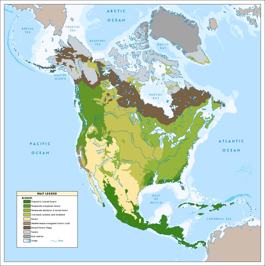 Biomes Of North America Map.North American Biomes Ca 2049 By Ynot1989 On Deviantart