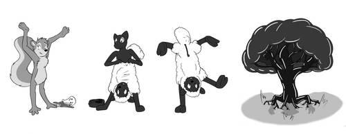 Random Stream Sketches #02 - backwards boogaloo :3 by NaughtyCatNick
