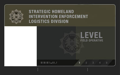 S.H.I.E.L.D. Field agent level 1 ID card (Blank) by PricklyAlpaca