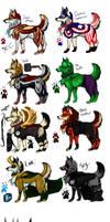 WolfAvengers mascot design auction. by PricklyAlpaca