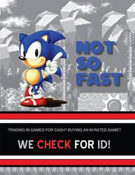 Gamestop flyer - Sonic by RuneSword