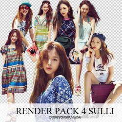 Pack 4 render Sulli by dungyonggun