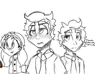 Afton Fam sketches by RandomFNAFDeves