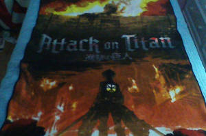 Attack on Titan bedsheet by Kaleido12