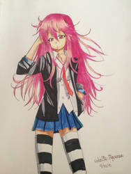 Myself in anime form by Kaleido12
