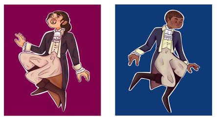 Hamilton and Burr by JarteStarr