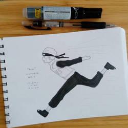 D11 Inktober: Run by sakijane