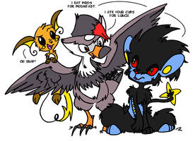 Luxray PWNED By Staraptor by denkimouse