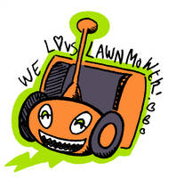 We Luv Lawnmower by denkimouse