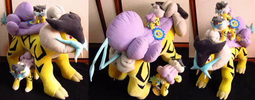 new york's giant raikou plush by denkimouse
