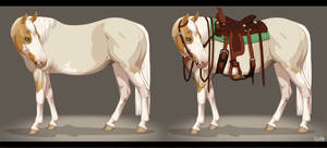 Quamille - Paint Horse Mare - Ref sheet by BH-Stables