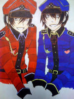 Dee and Dum the Bloody Twins by iluvyaoisasunaru