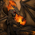 dragon de fuego by julif-art