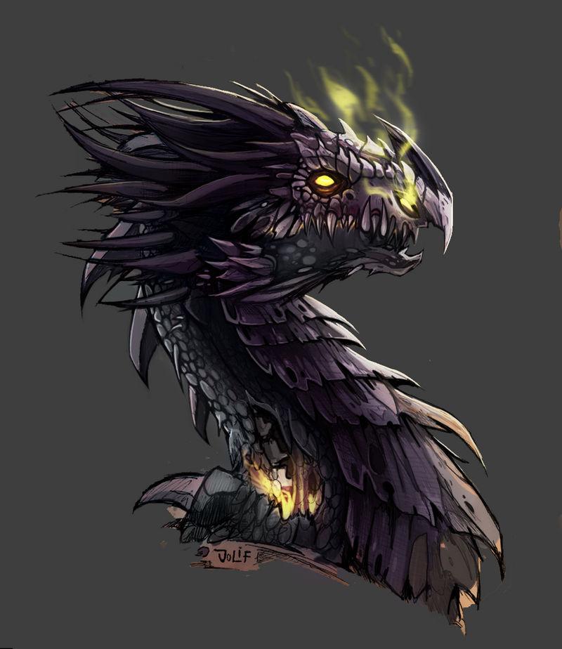 dragon zombie by julif-art