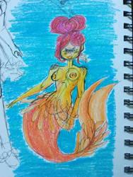 Cyclops Mermaid by PinkLemonSquish