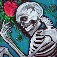 Skeleton Rose by barbosaart