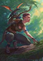 Jungle Hunter by SketchingDays