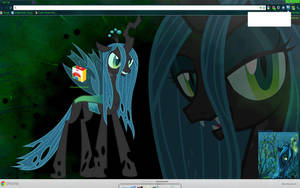 Queen Chrysalis Chrome theme by Midnight-Page