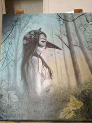 Natural Mask   airbrush on MDF 98x100 by dodosun