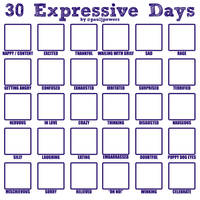 30 Expressive Days Template by PaulJPowers