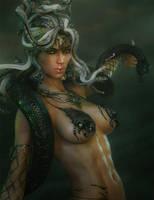 Gorgon Medusa Fantasy Art by shibashake