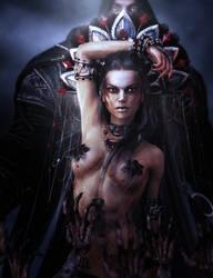 The Dark Queen, Fantasy 3D-Art by shibashake