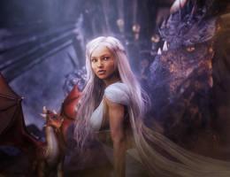 Daenerys, Queen of the Iron Throne, GoT Fan-Art by shibashake