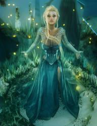 Disney Frozen's Queen Elsa, Fantasy Fan-Art by shibashake