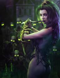 Pied Piper, Necromancer Fantasy Woman Art, DS Iray by shibashake