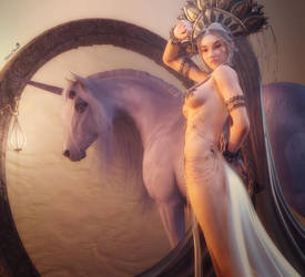 Unicorn Princess, Fantasy Woman Art, Daz Studio by shibashake