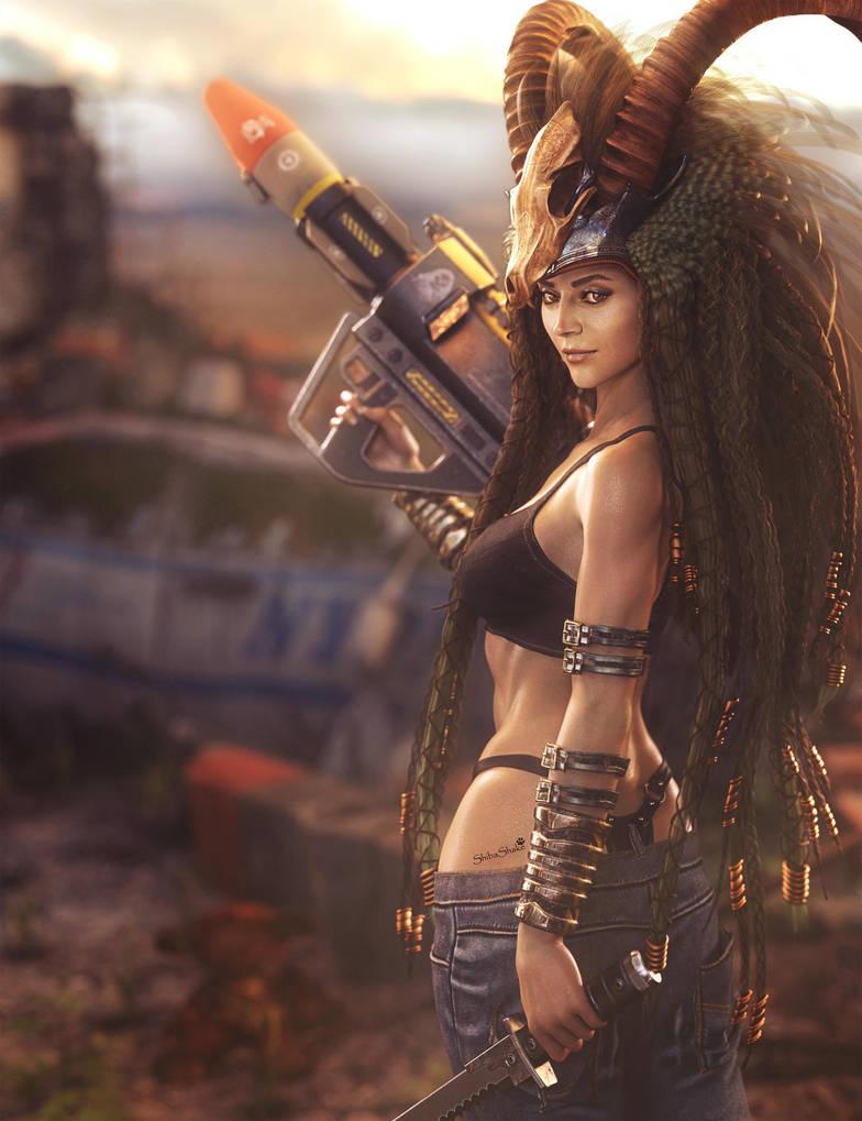 Sci-Fi and Steampunk Women Fantasy Art by shibashake on