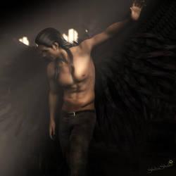 Fallen Angel, Fantasy Man 3D-Art, Daz Studio Iray by shibashake
