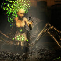 Spider Queen, Sci-Fi Fantasy Woman Art, Daz Studio by shibashake