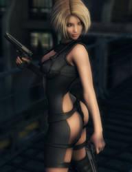 Blonde Assassin, Fantasy Woman Art, Daz Studio by shibashake