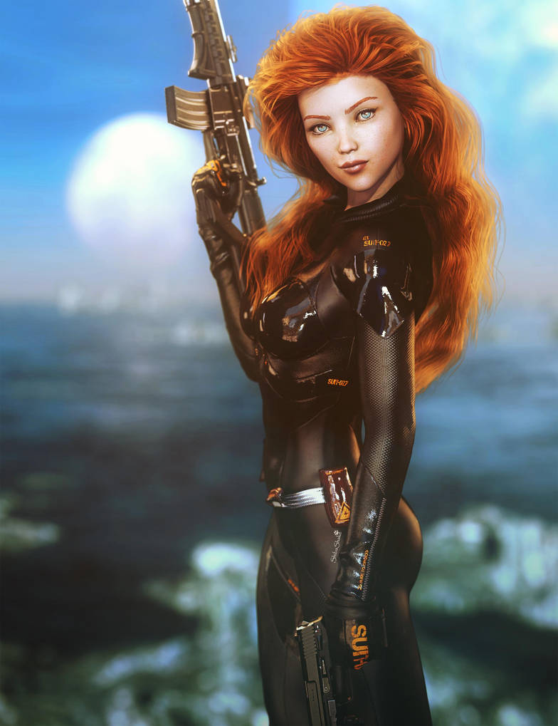 women, fantasy girl, Angel Alonso, science fiction