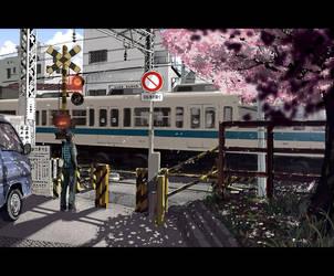 japan train by fukamatsu