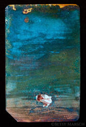 Copper Metrocard Painting 9 by Paintsmudger